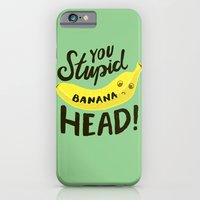 iPhone & iPod Case featuring Banana Head by Vaughn Fender