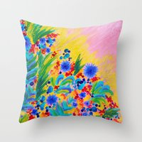 NATURAL ROMANCE In PINK … Throw Pillow