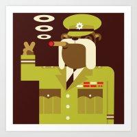 Major Winston Bulldog Art Print