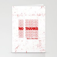 No Thanks Stationery Cards