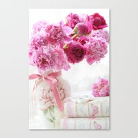 Romantic Pink And Red Pe… Canvas Print