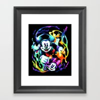 Massive Color Framed Art Print