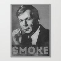 Smoke! Funny Obama Hope Parody (Smoking Man)  Canvas Print