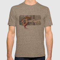 Le Bistro Mens Fitted Tee Tri-Coffee SMALL