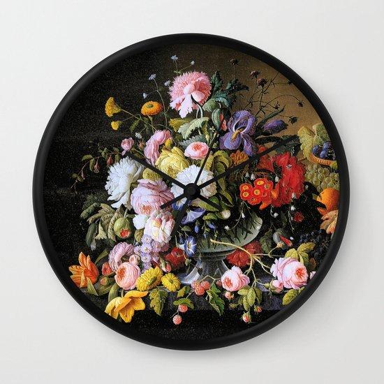 Vintage Varnish- Flowers&Fruit Wall Clock