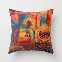 Information Station  Throw Pillow