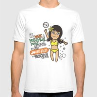 Beach Spike_DOUBLE HIT Mens Fitted Tee White SMALL