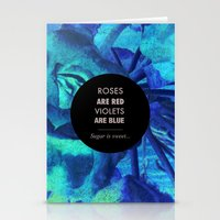 Roses Are Red Stationery Cards