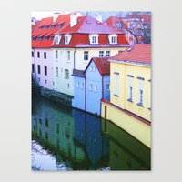 Blue House Sandwich Canvas Print