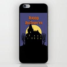 Creepy Castle Happy Hallowe'en iPhone & iPod Skin