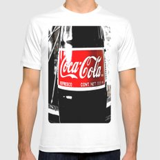 Coca-Cola Nostalgia Mens Fitted Tee White SMALL