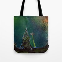 UFO Painting - Searchlin… Tote Bag