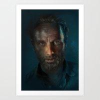 The Walking Dead - Rick … Art Print
