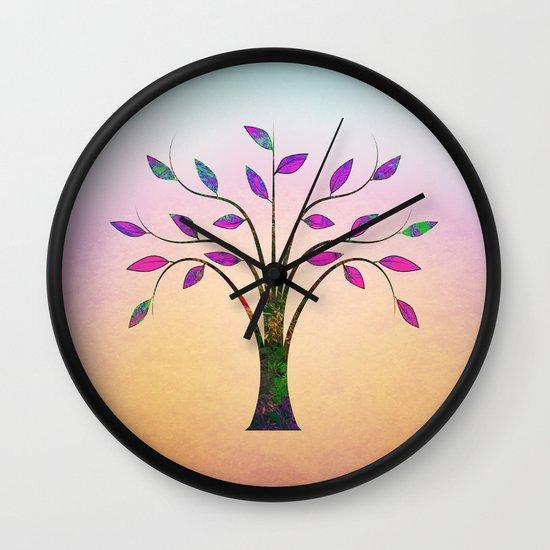 Ornamental Tree Wall Clock