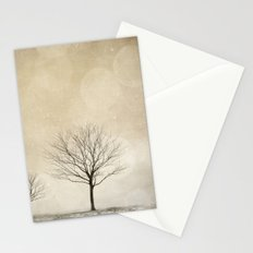 Snow Bokeh Wonderland  Stationery Cards