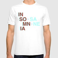 Insomnia / Insane White Mens Fitted Tee SMALL