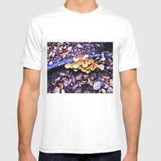 Fungi nature. SMALL Mens Fitted Tee White