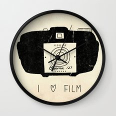 I Love Film Wall Clock