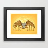 Safari Park Framed Art Print