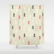 Shower Curtain featuring Geometric Triangles by BlueLela