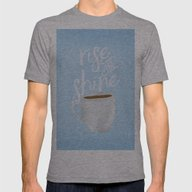 Rise And Shine Mens Fitted Tee Athletic Grey SMALL