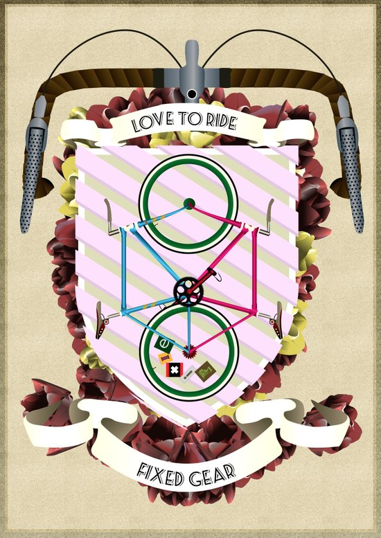 Love to Ride My Fixed Gear Bike Canvas Print