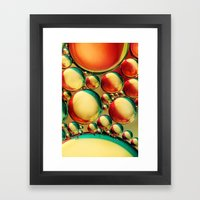 Candy Stripe Bubble Abst… Framed Art Print