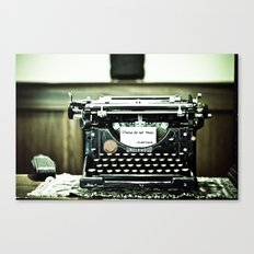You don't write anymore... Canvas Print