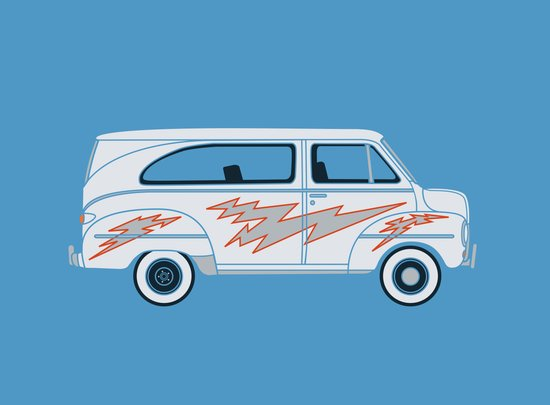 Grease Van Lightning Art Print