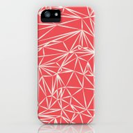 Coral Pink Geometric iPhone (5, 5s) Slim Case