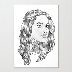 Inked 1 Canvas Print