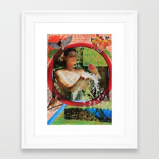 Behind the waterfall Framed Art Print