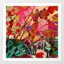 wild floral Art Print