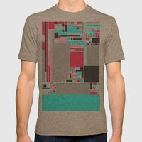 Red Mint Mens Fitted Tee Tri-Coffee SMALL