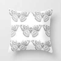 Butterfly Dots Throw Pillow