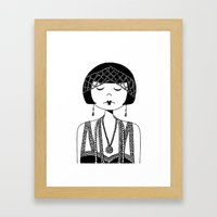 Star of the Silver Screen Framed Art Print