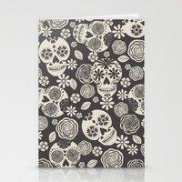 Sugar Skulls - Black & White Stationery Cards