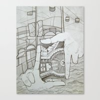 Fragmented Memory Canvas Print