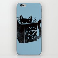 WITCHCRAFT CAT (Blue) iPhone & iPod Skin
