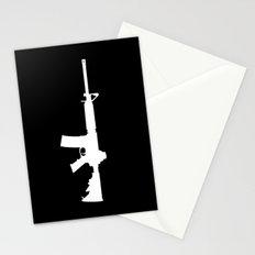 AR-15 (on black) Stationery Cards