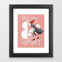 Poerty & Clarinet Framed Art Print