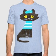 Fitz - Sailor Cat Mens Fitted Tee Tri-Blue SMALL