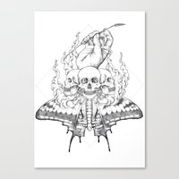 Grasping Straws Canvas Print