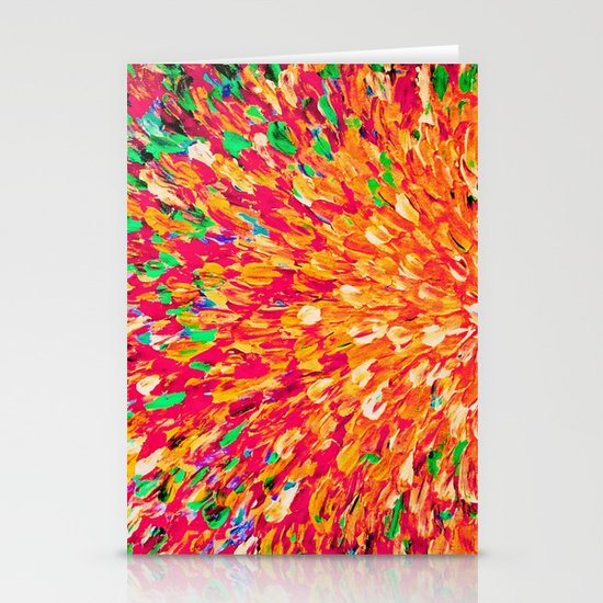 NEON SPLASH - WOW Intense Dash of Cheerful Color, Bold Water Waves Nature Lovers Modern Abstract  Stationery Card
