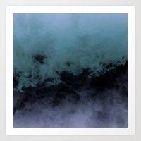 Zero Visibility Cut Art Print