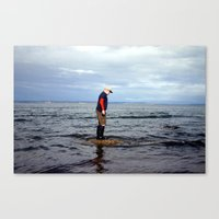 A boy and The Sea 2 Canvas Print