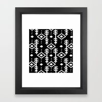 BLACK NORDIC Framed Art Print