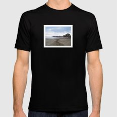Mediterranean Sea SMALL Black Mens Fitted Tee