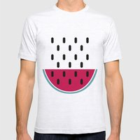 Watermelon Mens Fitted Tee Ash Grey SMALL