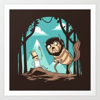 Where The Wild Adventure… Art Print